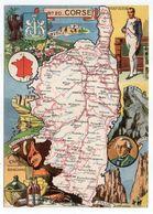 Corse -- Illustrateur R . Pinchon--carte Géographique Illustrée Du Département De Corse.........à Saisir - Altri Comuni