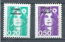 Saint-Pierre Et Miquelon YT N°515-516 Marianne Du Biencentenaire Neuf ** - Nuevos