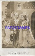 135048 BRAZIL BRASIL POÇOS DE CALDAS COSTUMES COUPLE JUST MARRIED TELON CURTAIN POSTAL POSTCARD - Brasile