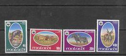 Malawi 1978 Wildlife Set MNH Mi: 297-300 - Unused Stamps
