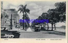 135051 BRAZIL BRASIL RIO DE JANEIRO AVENUE BEIRA MAR POSTAL POSTCARD - Brasile