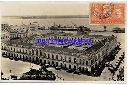 135059 BRAZIL BRASIL PORTO ALEGRE MARKET MUNICIPAL CIRCULATED TO URUGUAY POSTAL POSTCARD - Brasile