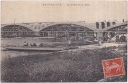 Dépt 42 ANDREZIEUX  Le Pont Et Le Bac - Animée;automobile - Andrézieux-Bouthéon