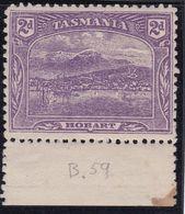 TASMANIA 1911 P.11 SG259b Mint Hinged - 1853-1912 Tasmania