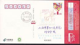 CHINA CHINE CINA POSTCARD JIANGSU  SUZHOU TO SHANGHAI   WITH  ANTI COVID-19 INFORMATION - Cina