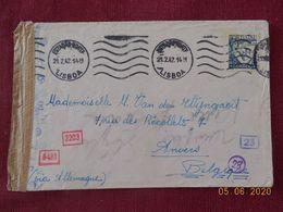 Lettre Du Portugal De 1942 Avec Bande De Censure Pour La Belgique - 1910-... Republic