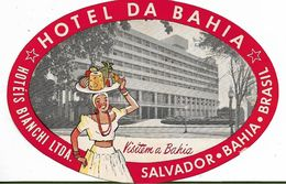 135068 BRAZIL BRASIL SALVADOR BAHIA PUBLICITY HOTEL DO BAHIA LUGGAGE NO POSTAL POSTCARD - Hotel Labels