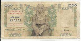 Greece 1000 Drachmai 1935 Bad Grade - Grecia