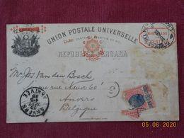 Entier Postal Du Pérou De 1896 Pour La Belgique - Perú