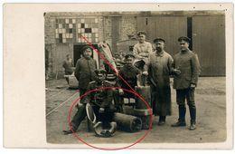 (2-3) Soldats Allemande ( Canone) 54  La Gare. CONFLANS EN JARNISY (JARNY) ? -carte Photo Allemande 14/18 - Francia