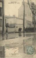 SAINTES  Inondations De 1904 Avenue Gambetta  Cité Sud Imprimerie  Photographie RV - Saintes