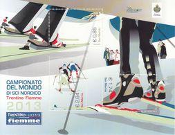 San Marino 2013 - Campionato Del Mondo Di Sci Nordico A Fiemme - Foglietto Nuovo - San Marino