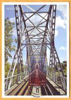 2018 Moldova Moldavie Maxicard Europa Cept Railway, Railway Bridge, Train, Gustave Eiffel, Train, Transport - 2018