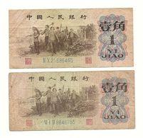 2 Banknotes China - Monedas & Billetes