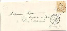 MARNE (49) LSC De STE MENEHOULD GC 3773 Sur NAP 21 (écorné) POUR LA VILLE - Marcofilia (sobres)