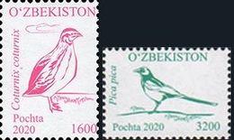Uzbekistan 2020. Definitive Issue. Birds.  MNH - Uzbekistán