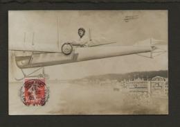 """14 Trouville Deauville / Avion,aviation / Carte Photo Montage Sur """"Antoinette"""" Au Dessus De Deauville Trouville - Trouville"""