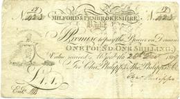 1 GUINEE 1809 BANQUE MILFORD & PEMBROKSHIRE (PAYS DE GALLES) - Unclassified