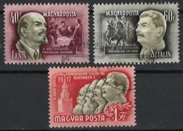 Ungarn Hungary 1952. Mi.-Nr. 1276/8, Used O - Ungheria