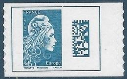Adhésif 1603 Marianne L'Engagée Europe Timbre De Carnet (2018) Neuf** - France