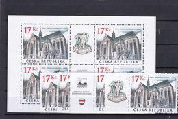 Tschechische Republik, KB 389+4x389 (*), Nominale 136 Kc (K 6198a) - Hojas Bloque