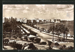 CPA Tripoli, Along The Sea, View On The Street - Libia