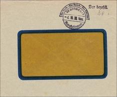B&M: Warnsdorf 1938 - Bar Bezahlt, Propaganda Stempel - Occupation 1938-45