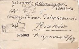 GG: Brief Von Russland Als Einschreiben Nach Krakau - Besetzungen 1938-45