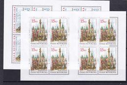 Tschechische Republik, KB 551/52 (*), Nominale 216 Kc (K 6200) - Hojas Bloque