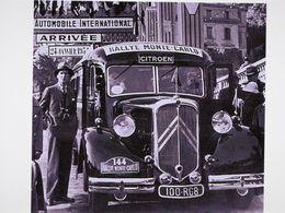 Citroen T45 Bus  -  Pilotes: Francois Lecot/Maurice Penaud - Concurrents Rallye Monte-Carlo 1933 -  15x10cms PHOTO - Rallyes