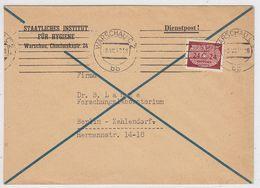 Generalgouvernement Dienstpost Mit EF Nach Zehlendorf - Bezetting 1938-45
