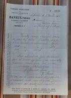 76 SAINT NICOLAS D'ALIERMONT Fabrique D' Horlogerie BAVEUX FRERES 1916 - 1900 – 1949