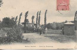 CPA La Gare Des Tramways De Ballon (72) - Andere Gemeenten