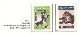 South Viet Nam - 1971 - SC 396 - 397 - Deer - MH - Vietnam