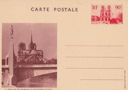 ENTIER VUES De PARIS - YVERT 1 - NOTRE DAME De PARIS - TTB - Postal Stamped Stationery