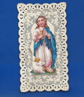 Image Religieuse Dentellée   Découpi    Année 1880 - Andachtsbilder