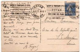 Royan 1931 - Flamme Saison De Printemps Et été - Climat Plages Et Forêts - Oblitérations Mécaniques (flammes)