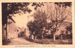 CPA : Les Salles Sur Verdon  (83)  Entrée Du Village (maintenant Englouti) Rare  Cachet   1943    Ed Tardy - Autres Communes