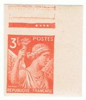 3f Iris Yvert 655 Non Dentelé Haut De Feuille, ** - 1939-44 Iris