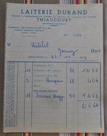 54 THIAUCOURT    LAITERIE DURAND MAGGI - Invoices