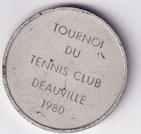 Deauville (Calvados) Médaille Du Tournoi Du Tennis Club Deauville Avec Son étui En TBE 1980 - Tennis