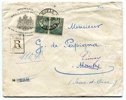 SOFIA Env. Recom. Du 22/09/1898 Pour LIMAY En Tête Intendance De La Liste Civile  Paypal Not Accept - 1879-08 Principado