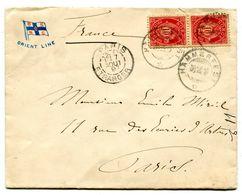 HAMMERFEST Env. Du 30/07/1897 Pour PARIS En Tête ORIENT LINE  Paypal Not Accept - Briefe U. Dokumente