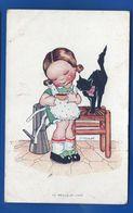 Petite Fille Et Son Chat   Le Meilleur Café     Illustrateur: JM VANAJEK - Other Illustrators