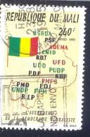 MALI 240 F USED STAMP 37561 MAP FLAG 1995 - Malí (1959-...)