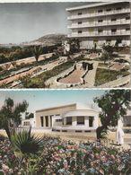 MAROC - AGADIR - 2 CPSM : L'Hôtel Saada - Le Cercle De L'O.C.P. Et La Salle Des Fêtes - Agadir
