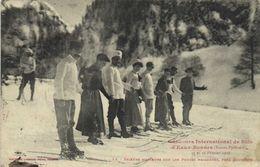 Cobcours International De Skis à Eaux Bonnes 15 Et 16 Fev 1908 Skieurs Amateurs Sur Les Pentes Neigeuses Près Gourette - Eaux Bonnes