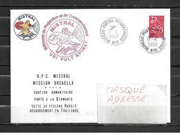 BPC MISTRAL - Mission ORCAELLA  (Soutien Humanitaire à La Birmanie) - BUREAU POSTAL INTERARMEES 610 17/06/08 - Marcophilie (Lettres)