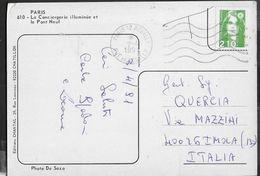 FRANCE - CARTOLINA PER L'ITALIA DA PARIS 12 REUILLY-2.4.1991 - TASSATA - France