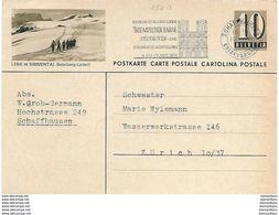 "160 - 13 -  Entier Postal Avec Illustration ""Lenk Im Simmental"" Superbe Oblit Mécanique ""Triumph Der Farbe"" 1959 - Postwaardestukken"